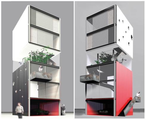 Maison verticale tristan brisard architecte for Assurer une maison en zone inondable